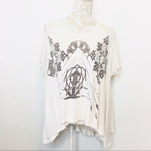 We the Free People Oversized Graphic Top XS